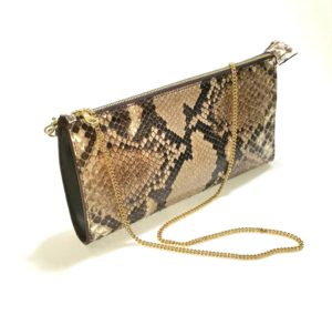 Beau Satchelle Genuine Python Clutch Purse profile 2018