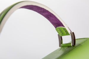 Beau Satchelle Michelle Handbag in green close up for print 2017